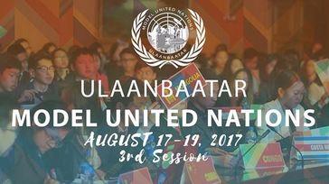 Ulaanbaatar Model United Nations 2017