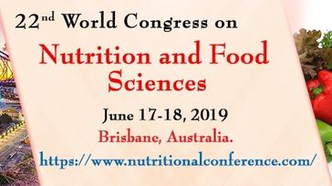 22nd World Congress on Nutrition and Food Sciences