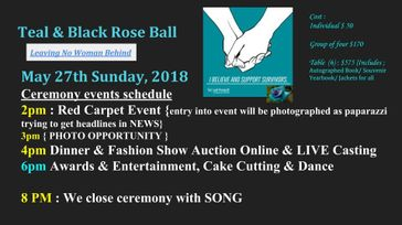 MST Awareness Teal & Black Rose Ball