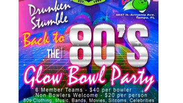 Krewe of Shamrock Back to the 80's Glow Bowl Party Proceeds benefiting Sultans of Egypt Shiners