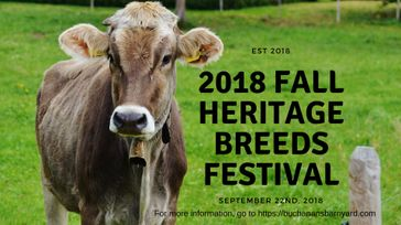 2018 Fall Heritage Breeds Festival