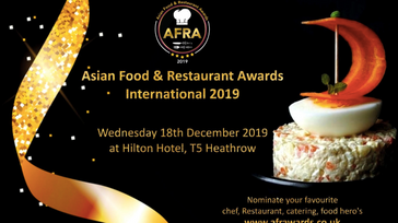 Asian Food and Restaurant Awards 2019