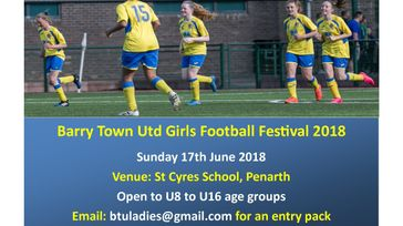 Girls Football Summer Tournament 2018