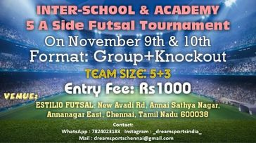 Inter-School & Academy 5A Side Futsal Tournament