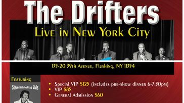 THE DRIFTERS LIVE in NEW YORK CITY