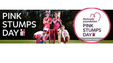 Pink Stumps Day- Cricket
