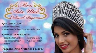 Mrs Asia Utah Beauty Pageant.