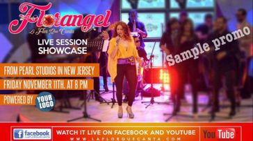 Tropical Latin music artist Florangel performs live at the Congahead studios.