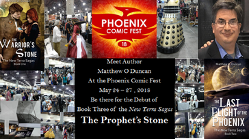 Author Book Debut at the Phoenix Comic Fest