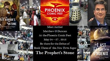 Author Book Debut at the Phoenix Comic Fest