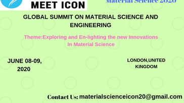 GLOBAL SUMMIT ON MATERIAL SCIENCE AND ENGINEERING