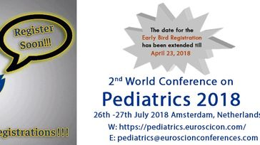2nd World Conference on Pediatrics 2018