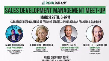 Sales Development Management Meet-Up