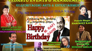 Tribute to Mohammed Rafi on 24-Dec his 95th B'day