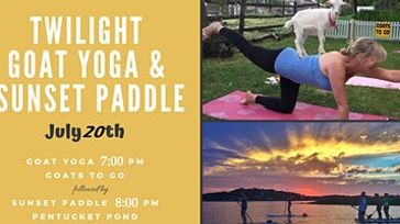 Twilight Goat Yoga & Sunset Paddleboard