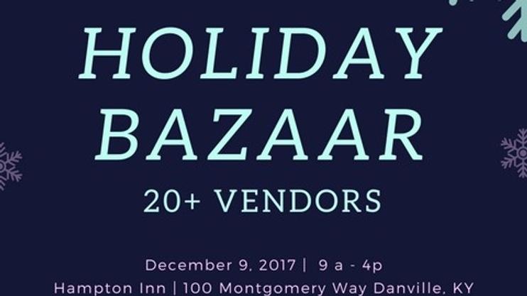 holiday bazaar local small business vendor event. Black Bedroom Furniture Sets. Home Design Ideas