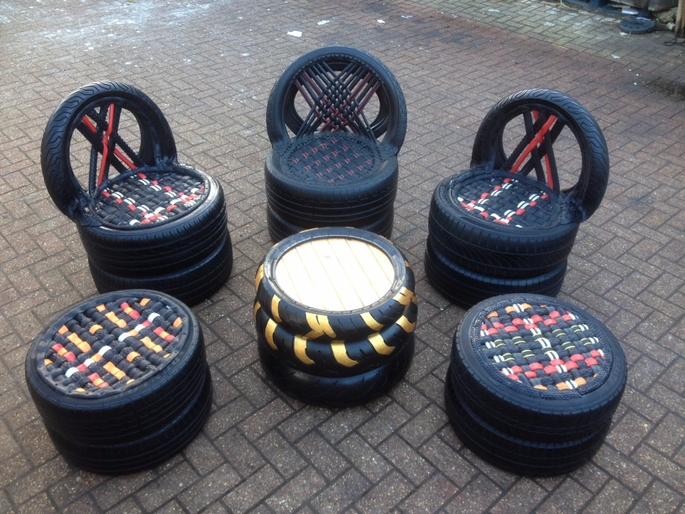 Tyre Furniture Skills Africa Chuffed Non Profit Charity And