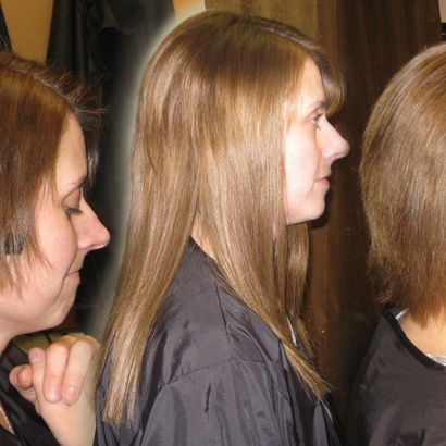 Clients hair extensions extensions of yourself melissa white hair extensions are perfect for growing out a short hair cut the extensions help you to get through that awkward stage solutioingenieria Images