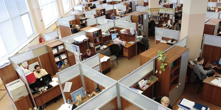 Isolated Employee Cubicles