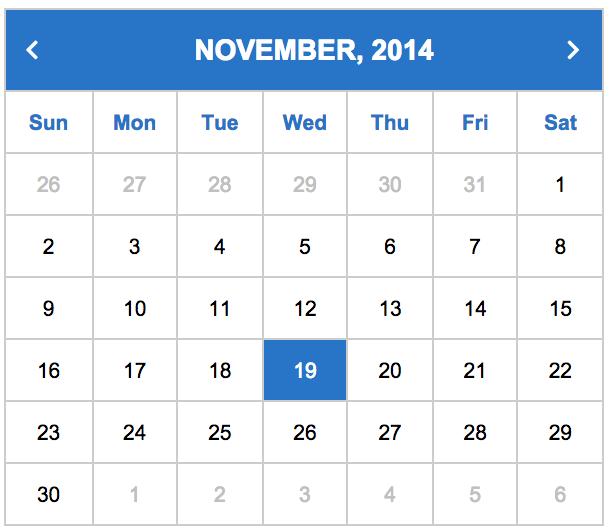 Building a Calendar using React JS, LESS CSS and Font