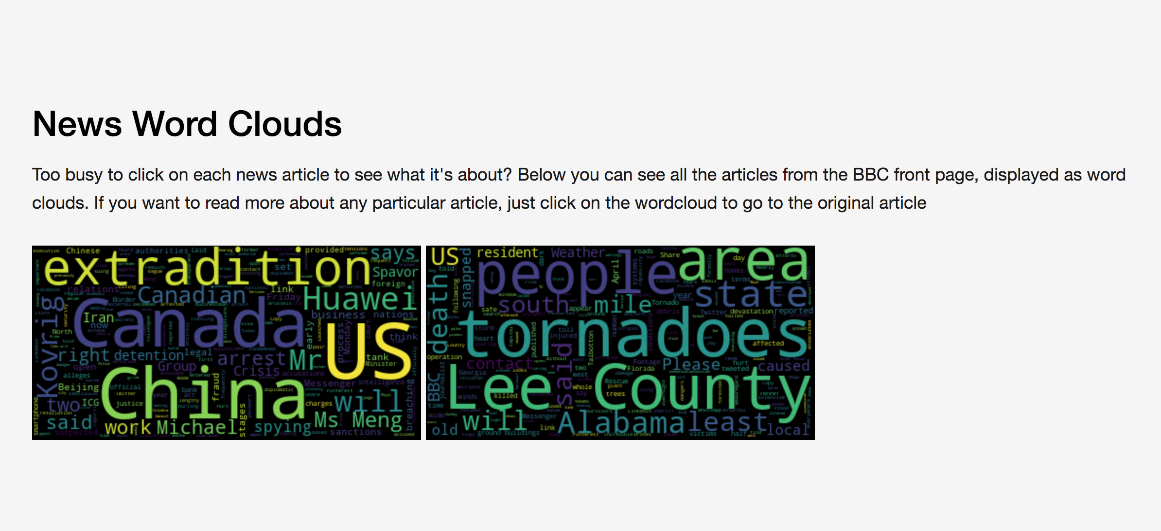 Building news word clouds using Python and Repl it | Codementor