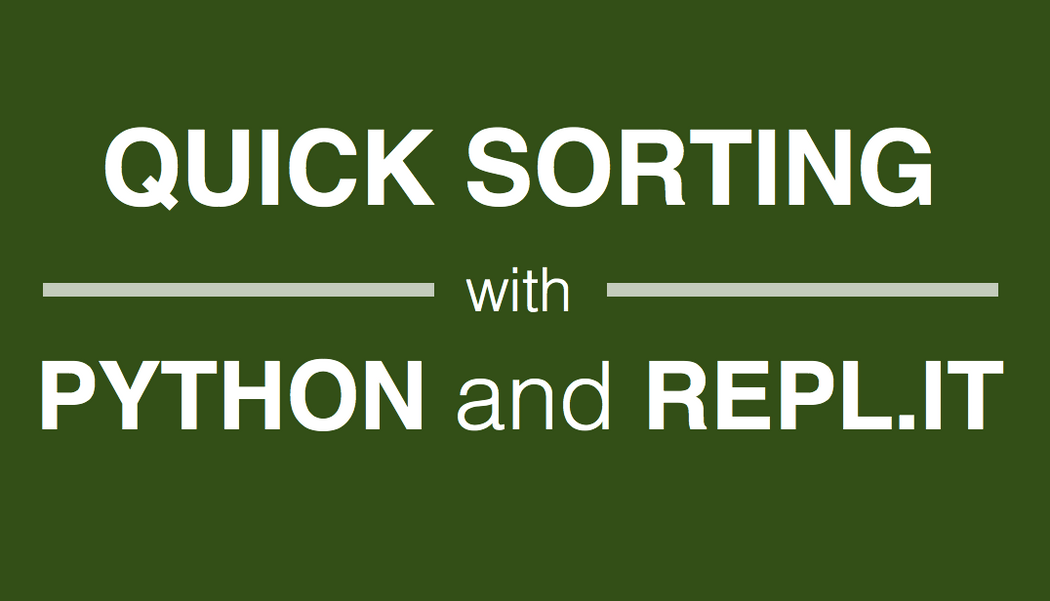 Quicksort tutorial: Python implementation with line by line