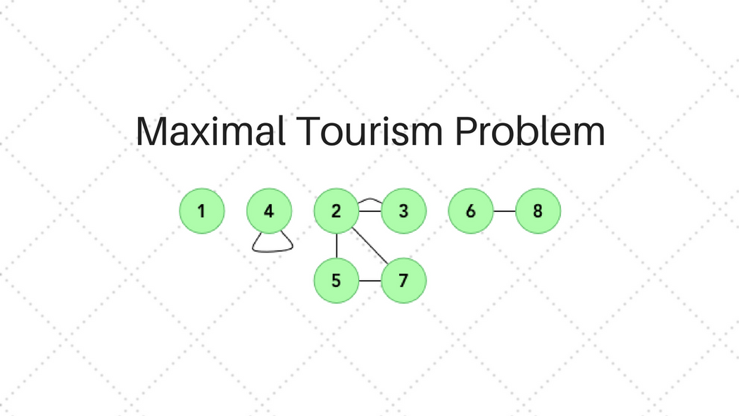 Disjoint Sets and the Maximal Tourism Problem | Codementor