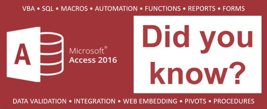 Microsoft Access: Did You Know? (Part 1) | Codementor