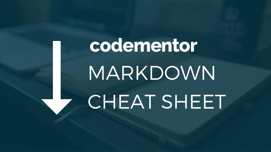 Write on Codementor: Markdown Cheat Sheet | Codementor