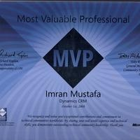 Imran [MVP - MS CRM, AX , Sharepoint, .Net Expert], Dynamics 365 engineer and developer
