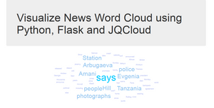 Visualize News Word Cloud using Python, Flask and JQCloud
