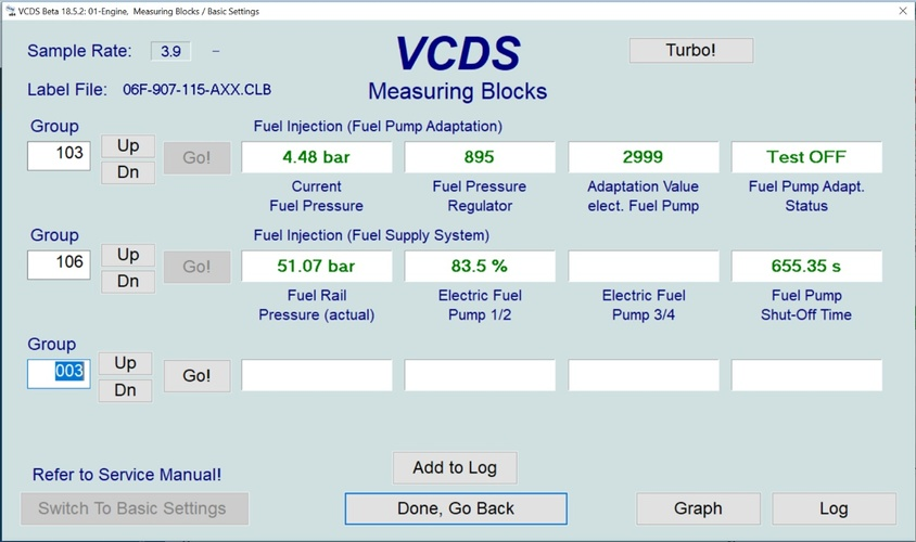 Quick Diagnosis for VW/Audi GDI fuel pumps – Diagnostic Network