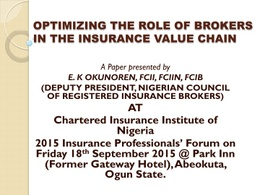 2015 INSURANCE PROFESSIONALS' FORUM: Paper 7
