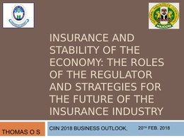 Thomas O.S - Insurance And Stability Of The Economy