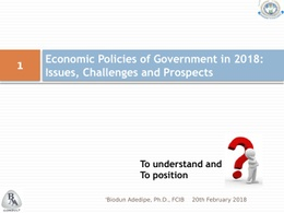 CIIN Economic Policies, 2018 Prospects
