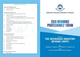 2018 CIIN INSURANCE PROFESSIONALS' FORUM