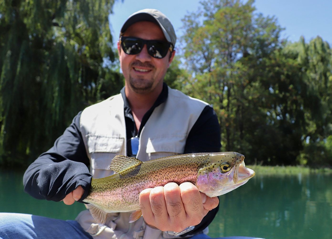 Fishing rainbow trouts in Arroyo Grande