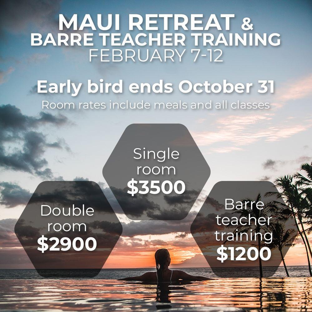 Maui Retreat & Barre Teacher Training