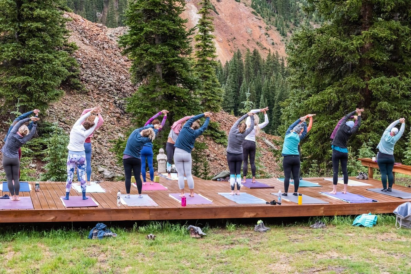Yoga in the Backcountry: A High Alpine Retreat