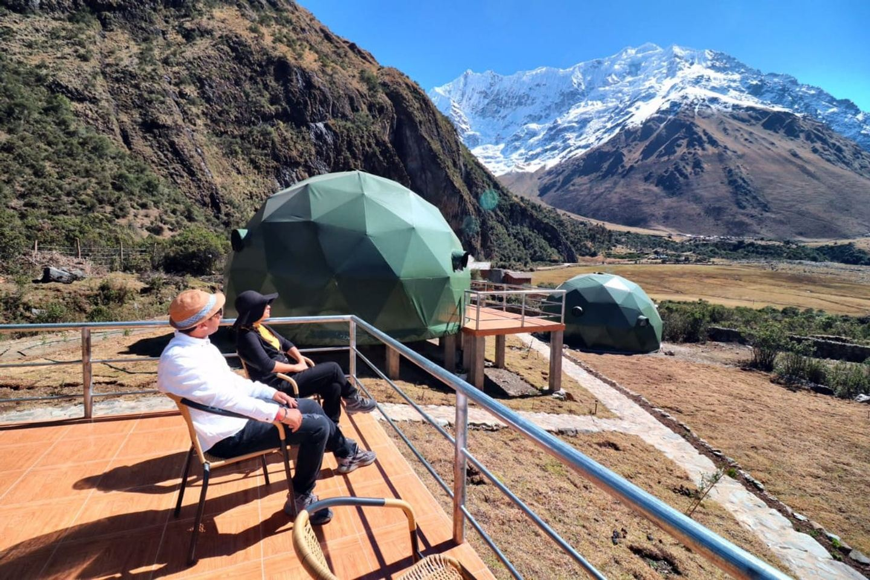 Salkantay Trek to Machupicchu by Glamping in Domes