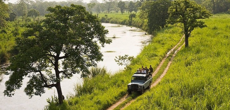 Jeep Safari inside Chitwan National Park