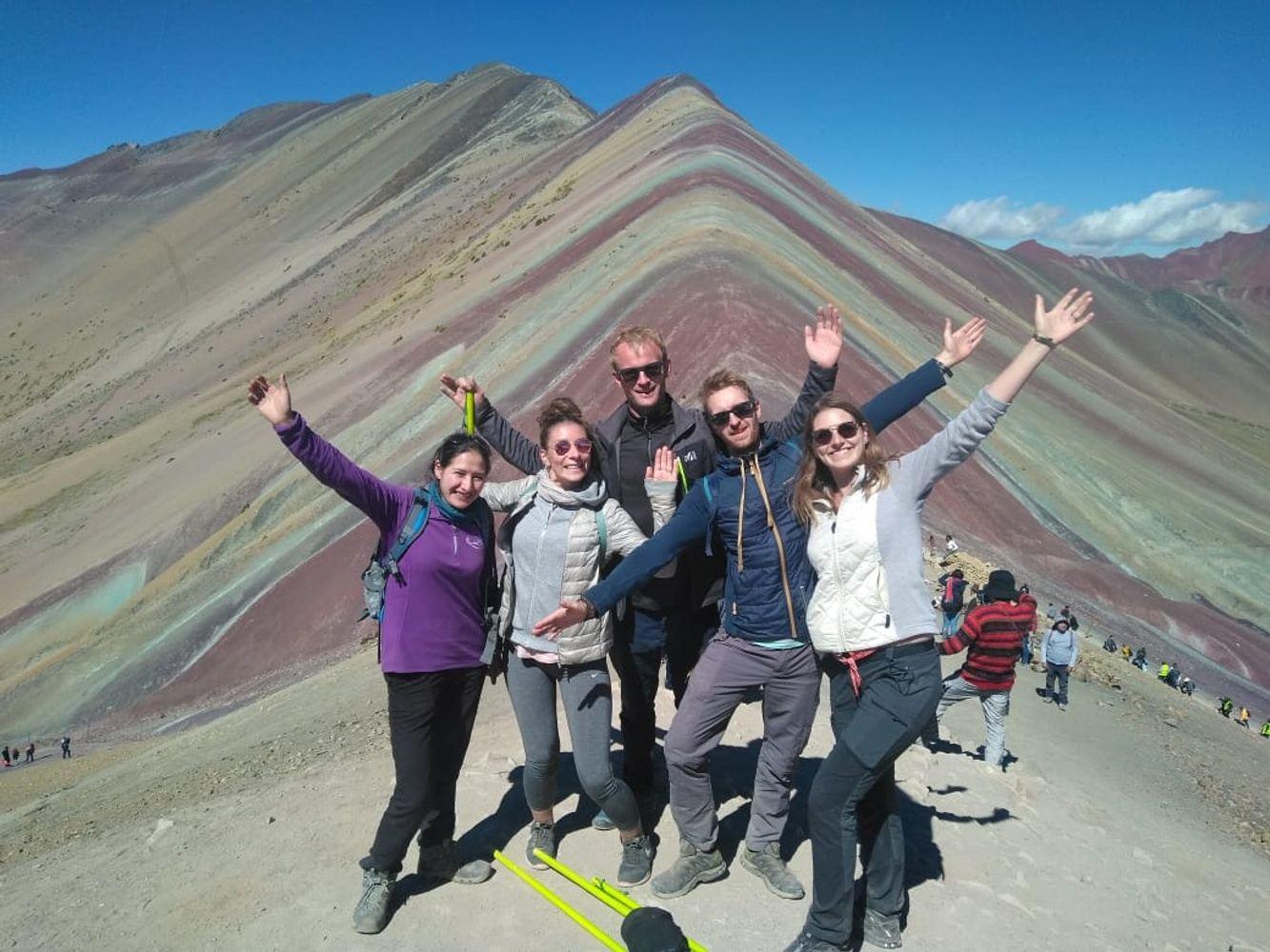 hike through the Rainbown mountain