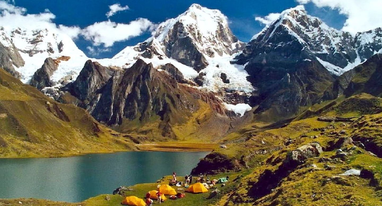 Cordillera Huayhuash Trekking via Trapesio Pass Peruvian Mountains