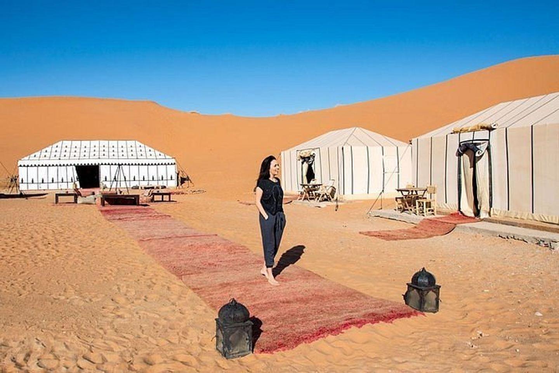 One night camel trekking in Merzouga Desert and Luxury Camp