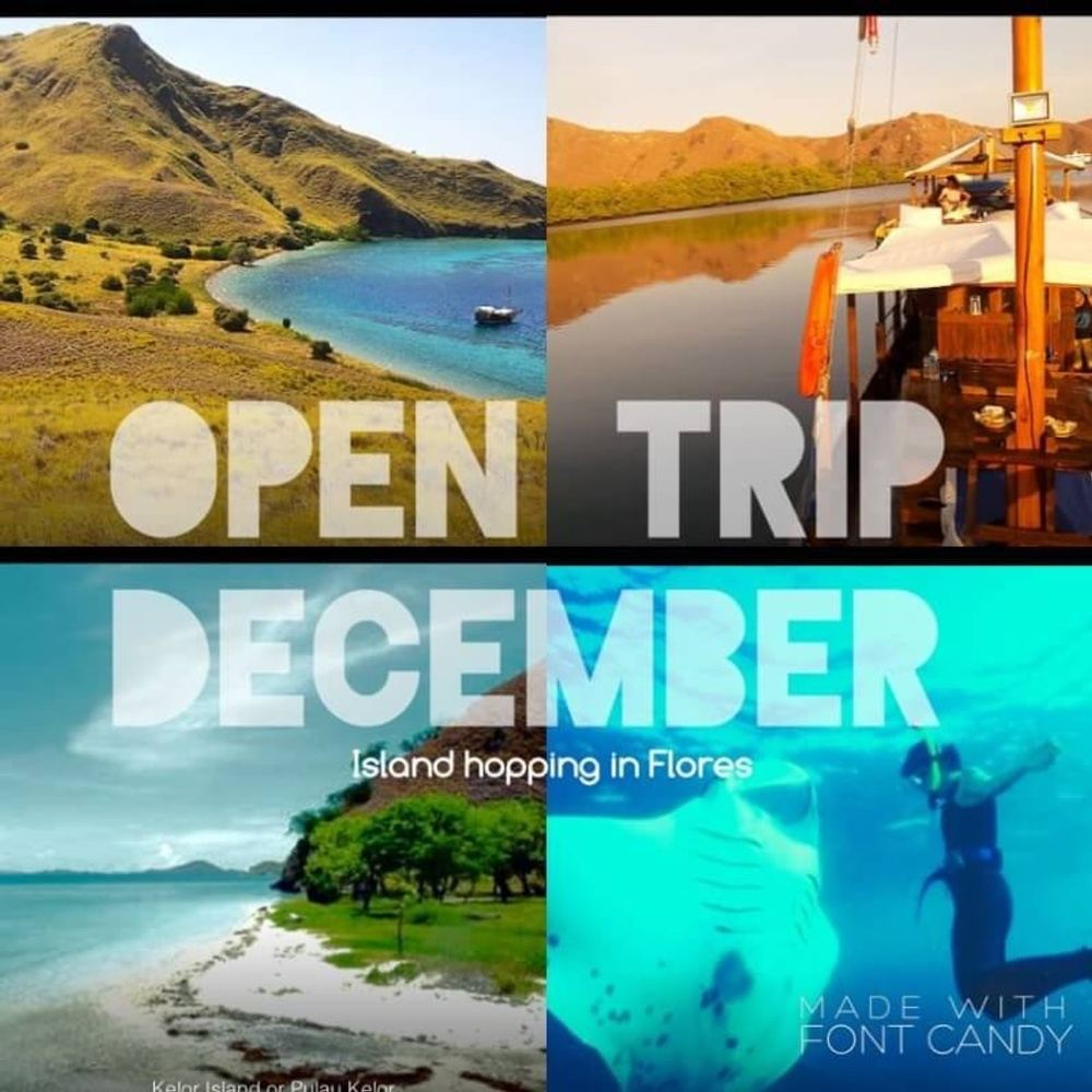 Open Trip Island Hopping Komodo Islands December 2016
