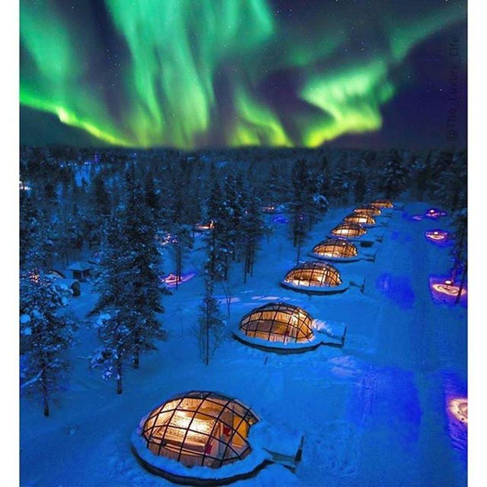 TOP of the World! Arctic Circle - Northern Lights - Glass Igloos