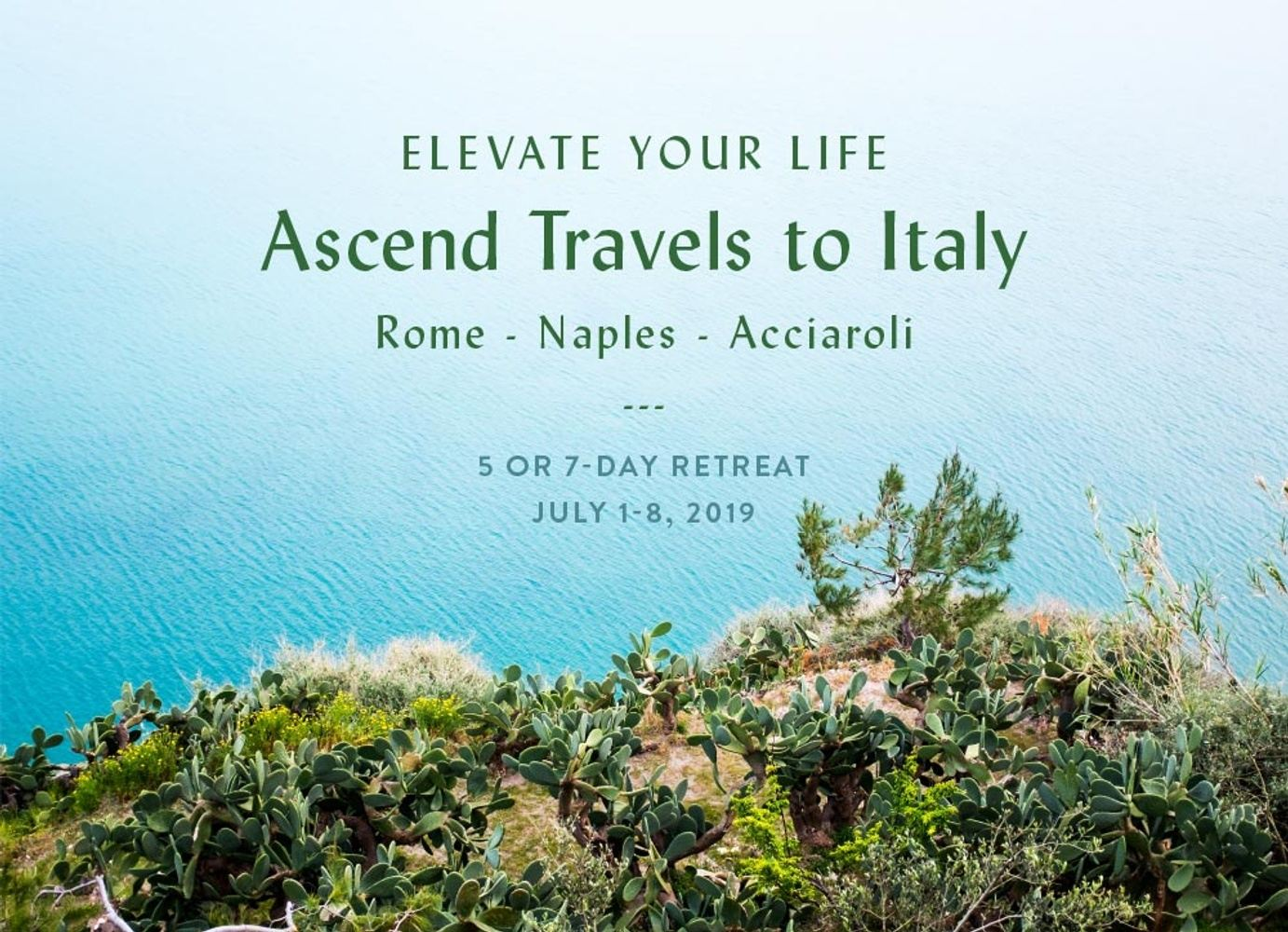 Ascend Travels to Italy 5+ 7 Night Options