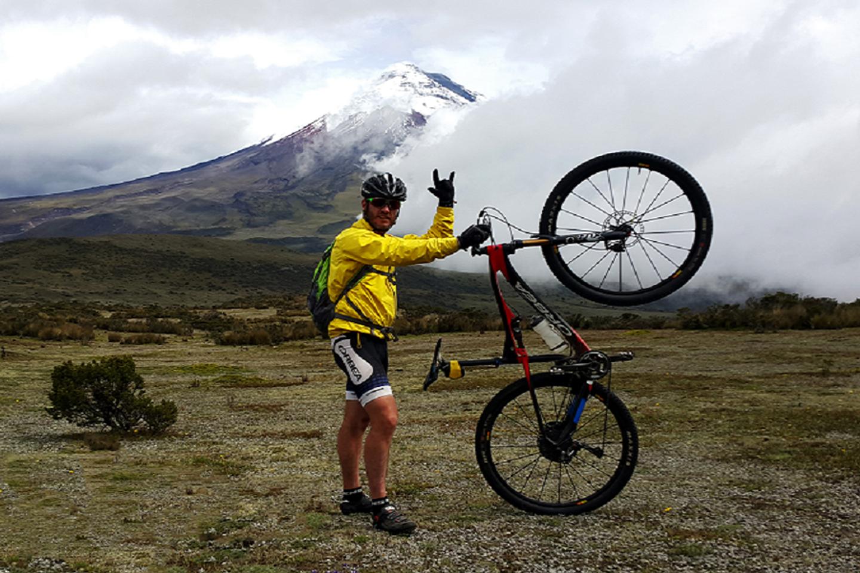 Biking on Cotopaxi volcano