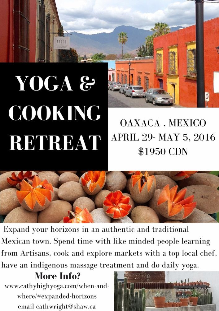 Yoga and Cooking