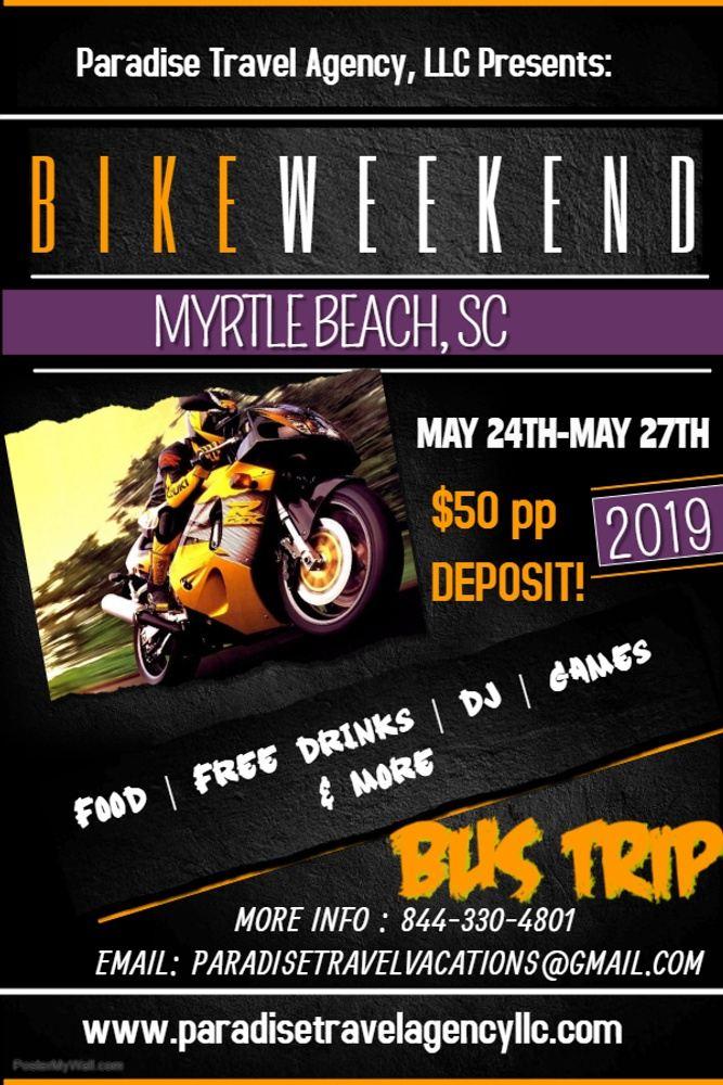 Myrtle Beach Bike Week Bus Trip (BUS ONLY& Package) 2019!